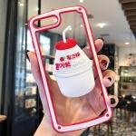 아이폰 바나나우유 캐릭터 그립톡 하드 핸드폰 케이스