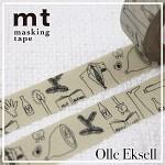 폭15mm-북유럽 감성 일러스트 OlleEksell 작품-일본 mt 디자인 마스킹테이프 note hd205-olle07