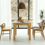 휴치 고무나무 원목 식탁 테이블 4인용 1400