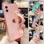 아이폰12 11 pro max xs 8 투명 컬러 스트랩 폰케이스