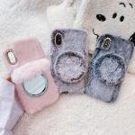 아이폰12 PRO MAX MINI 마그네틱 미러 밍크 털 케이스