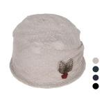 [디꾸보]장미 금사 나뭇잎 두건 여성모자 DCH-AC509