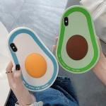 아이폰 3D 입체 아보카도 캐릭터 젤리 실리콘 케이스