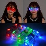 (3개묶음)LED셔터쉐이드안경 파티소품 클럽용