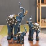 (kcrz071)엔틱 블루 코끼리 장식 3P set