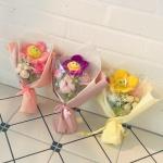 미니 스마일 꽃인형 꽃다발 3color 학예회 졸업 선물