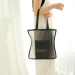 메쉬 숄더백 가방(블랙)