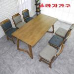 크레 고무나무 원목 6인용 식탁세트 의자형