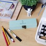Must have wood vintage penbox(예쁜 빈티지 우드 펜 보관함)