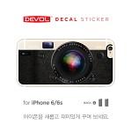[DEVOL 드볼] 애플 아이폰6/6s 데칼 스티커/스킨 [카메라 / 블랙] - DSP6-CABK