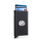심플 슬림 슬라이드 패브릭 카드 지갑 명함 보관 홀더
