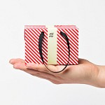 PLUSBOX GIFT BAG (Red stripes-mini) (쇼핑백/포장박스)