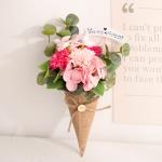 카네이션 아이스크림콘 꽃다발(핑크)