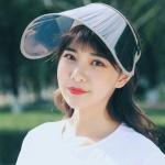 UV차단 휴대용 돌돌이 썬캡(그레이) /자외선차단모자