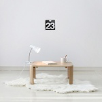 [벤트리]원목 접이식 브런치 테이블 小
