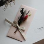 프리저브드꽃 명절상품권돈봉투(핑크)