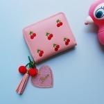 토이 키링-체리 동전 카드 지갑
