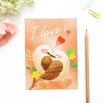 엽서 카드 POSTCARD - 영원히 사랑해 I LOVE U
