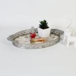 엔틱메탈 빈티지 장미 메이크업 트레이 라지-4색상