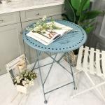 빈티지 블루 폴딩 테이블