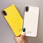 아이폰 XR XS MAX 8 7 심플 컬러 슬림 실리콘 케이스