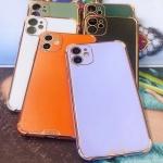 아이폰XR XS MAX 슬림 골드라인 컬러 젤리 폰케이스