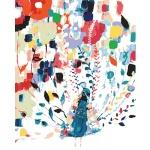 DIY 명화그리기키트 - 화려한 공작새 40x50cm (물감2배, 컬러캔버스, 명화, 동물, 공작새, 새)