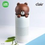 클레어 라인프렌즈 브라운 휴대용 공기청정기