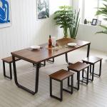 스틸뷰 1800 식탁+의자세트  각진프레임