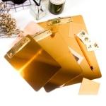 엔틱 골드 메탈 메뉴판 클립보드 A4/A5/B6size 메뉴북