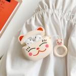 에어팟케이스 커플 고양이 캐릭터 키링 1/2_화이트313