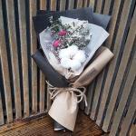 로랑 드라이플라워 도깨비목화 꽃다발 (블랙몽실이)