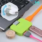 4Port 미니 USB허브2.0 (USB포트) ICLE15-097