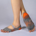 TOENTOE(토앤토) STRAP OPEN TOE - GREY+ORANGE