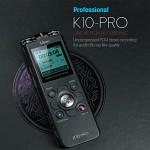 보이스레코더,녹음기 K10PRO(16G)연속35시간녹음,PCM3D입체녹음기,학습/회의/강의용....