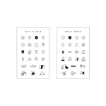 [B급 제품] 일상 표정 스티커 세트