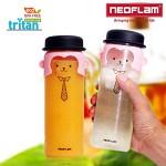 네오플램 트라이탄 원숭이 캐릭터 리보틀 물병 500ml * 2ea
