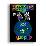 BUNNIES GO AROUND THE WORLD / 일러스트 액자