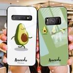 갤럭시 아보카도 캐릭터 강화유리 하드 휴대폰 케이스