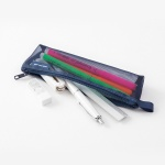 [LIMITED COLOR] Mesh Pen case - Navy