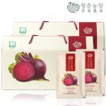 청춘농장 유기농 레드비트즙 2박스 60포