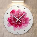 ps431-풍수에좋은작약꽃_인테리어벽시계