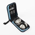 캠핑랜드 휴대용 수저 식기 2인세트 야외 그릇 스카이