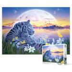 500피스 직소퍼즐 - 백호 평화의 낙원