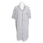 [쿠비카]스트라이프 셔츠형 원피스 여성잠옷 W728