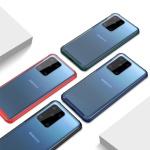 아이폰xr xs max 슬림 컬러 라인 투명 하드 케이스