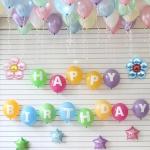 홈파티 생일 풍선세트-01 (헬륨가스포함)