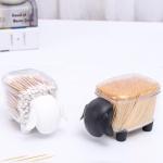 양 시쑤시개 면봉 화장솜 케이스 시프 인테리어 장식