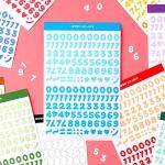 또박또박 숫자 스티커