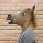 말 가면 (브라운)